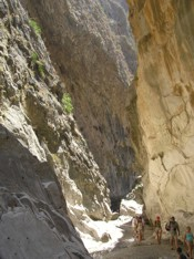 Saklikent Gorge spectaclar gorge split in two by an earthquake