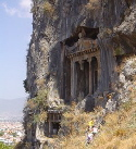 Fethiye LycianTombs built into the rock face