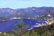 Gocek natual beauty with a natural harbour